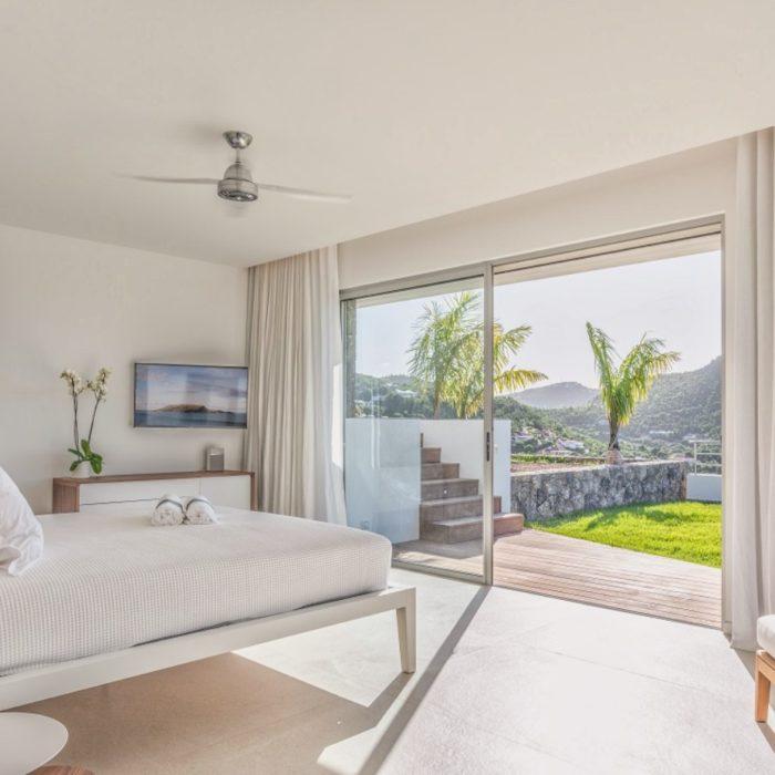 photo immobiliere chambre avec vue palmier photographe immobilier carcassonne perpignan