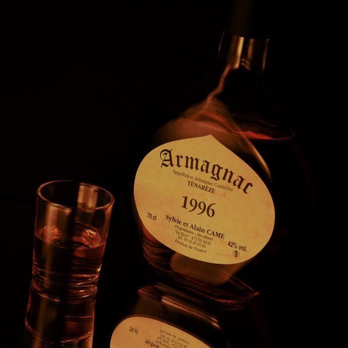 photo de produit bouteille d'armagnac photographe packshot carcassonne perpignan